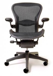 Herman Miller Aeron recording studio chair