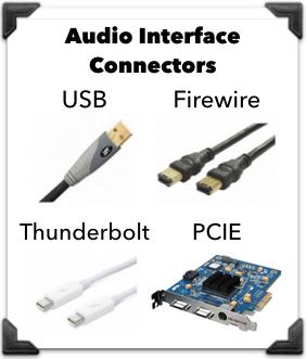 audio interface connectors